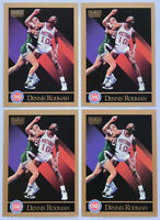 1990-91 SKYBOX BASKETBALL Dennis Rodman (4x) Card Lot #91 NM Pistons Bulls Spurs