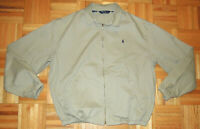 Polo Ralph Lauren Jacket Harrington Bomber Full Zip USA Khaki Vintage 90s Large