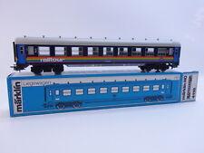 LOT 49816 Schöner Märklin H0 4118 D-Zug-Liegewagen 2. Klasse blau SNCB in OVP