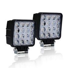 2Pc 48W LED Work Light Fog Lamp Truck OffRoad Tractor Spot Lights 12V 24V Square