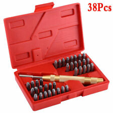 38 Pcs Automatic Letter Number Stamping Metal Punch Stamp Craft Set Tool Kit 3mm
