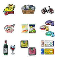 Cartoon Enamel Piercing Brooch Pin Collar Decor Badge Corsage Jewelry Lots Style