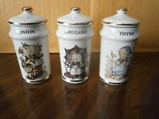 M.J.Hummel-Set of 3 Spice Jars-Ars Ag Cham Switzerland-1987-Japan-Ne w Other-L@K