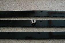 """CNC Stepper Motor  Mech Rack & Gear 72""""  Rack (3 24"""" pcs) & 1/4"""" 15T Pinion Gear"""