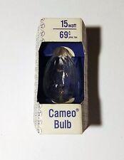 VINTAGE WESTINGHOUSE CAMEO BULB 15 WATT CANDELABRA BASE