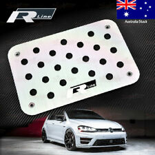 Aluminium Carpet Floor Mat Foot Rest Pedal Plate for VW Golf Polo GTI R-Line BLK