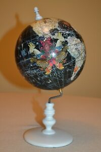 Kristjana S Williams World Map Navy Mini Glode