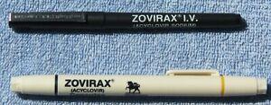 Drug Rep Lot of RARE Vintage ZOVIRAX® NOS Promotional Pen Set *MINT*