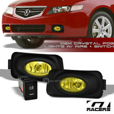 YELLOW CLEAR BUMPER DRIVING FOG LIGHTS LAMPS+SWITCH PT 2003/2004-2006 ACURA TSX