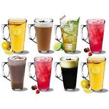 Large Latte Glasses Cappuccino Glass Tassimo Costa Coffee Cups Mugs - 380ml - x8