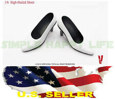 ❶❶1/6 woman shoes white high heeled shoes for phicen kumik SHIP FROM U.S.❶❶