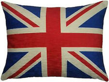 Union Jack Flag Luxury Chenille Cushion High Quality UK Made by Evans Lichfield