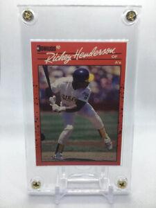 Rare RICKEY HENDERSON 1990 Donruss ERROR Card #304 NO DOT Inc MISPRINT A's HOF