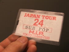 Vintage SUB POP RECORDS BACKSTAGE PASS LAMINATE H.I.P JAPAN TOUR NIRVANA? Label