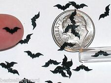 30pc. Super tiny Magical Halloween Black Bats Wings Miniature for glass bottle
