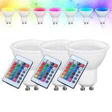 3er Set RGB LED Leuchtmittel 4 Watt GU10 Lampe dimmbar Leuchte Fernbedienung