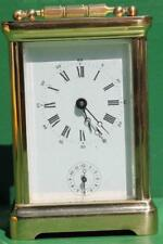 VINTAGE FRENCH L'EPEE 8 DAY ALARM CARRIAGE CLOCK CORNICHE CASE