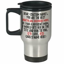 Personalized Anatolian Shepherd Mom Travel Mug, Dog Mommy Gifts, Dog Owner Gift