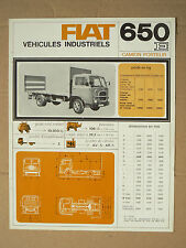 Camion  FIAT SOMECA 650 E  LKW   brochure truck  prospectus prospekt catalogue