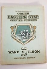 Rare early pre 1930 Order Of The Eastern Star Catalog # 66 Chapter Supplies