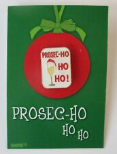 zzD Proseco ho ho ho Especially For You Christmas Pin Jewelry champagne
