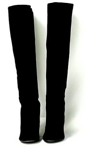 NEW Stuart Weitzman Eloise Over the Knee Black Suede Boots Size 7 M $695