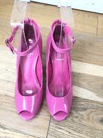 Women's NEXT Pink Shoes Heels Sandals  UK 5 EU38 Peep Toe Party Wedding Shoes