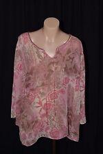 BeMe women's chiffon pink top, size 22