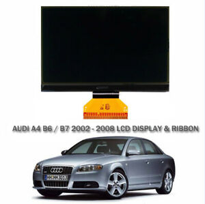 Audi A4 B6 B7 LCD Monochrome LCD Display & Ribbon Cable Replacement - NEW 02>08