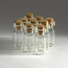 10pcs 2ml(16 X 30mm) Small Empty Clear Glass Bottles Vials Craft With Cork