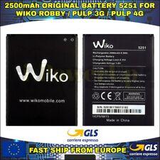 BATTERIA BATTERY WIKO 5251 ROBBY PULP 3G PULP 4G KENNY AKKU ORIGINALE 2500mAh