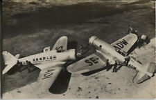 Postcard 1418 - Aircraft/Aviation Real Photo Northrop Delta ABA Sweden 1941