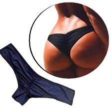 Damen Bikini String Badehose Frauen Badeanzug Brasilian Style schwarz S M L XL
