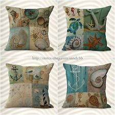 set of 4 cushion covers sea life fish decorative pillow cases covers