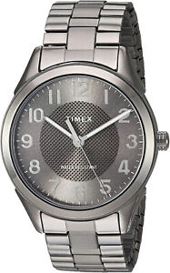 Timex Men's TW2T46000 Briarwood 40mm Black Stainless Steel Expansion Band Watch