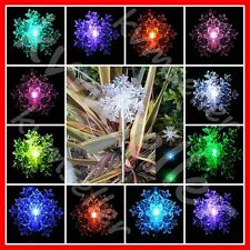 Solar Powered Snowflakes 3D Garden Yard Stake Pathway Lawn Solar LED Light Sun