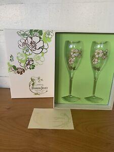 VTG PERRIER-JOUET Le Fleur Belle Epoque Champagne Flute Glass Set New Old Stock