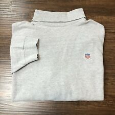 VTG Polo Country Ralph Lauren Men's XL K Swiss Embroidered Turtle Neck Shirt USA