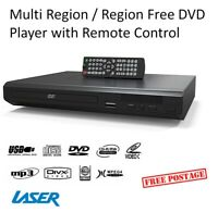 Multi Region Free DVD Player Remote Control HDMI USB CD MP3 Discs Dolby 5.1 NEW