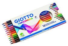 Colori Scuola Pastelli GIOTTO SUPERMINA Matite Colorate 3,8 MM Confezione da 12