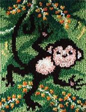 """Swingin (Monkey) Latch Hook Rug Kit - 15"""" x 20"""" - ARC4134 - Free UK P&P"""