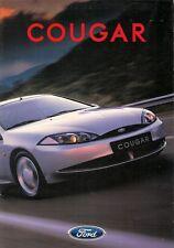 Ford Cougar 1998 UK Market Launch Foldout Sales Brochure 2.0i 16v 2.5 V6 24v X