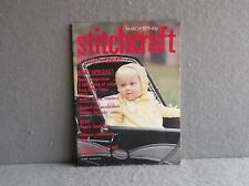 STITCHCRAFT MARCH 1979 MAGAZINE #543 BABY DESIGNS PRAM SET BOOTIES BIBS MITTS