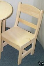 Childs chair's with round back unfinished HAND MADE functional boys & grils