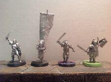 Señor De Los Anillos Uruk Hai comando escuadrón 4 figuras de metal warhammer