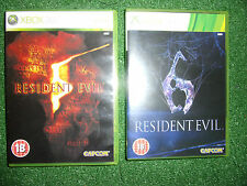 2 x XBOX 360 GAMEs RESIDENT EVIL 5 V & 6 VI +BOXES INSTRUCTIONS COMPLETE PAL GWO