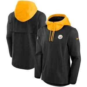 Brand New 2021 NFL Pittsburgh Steelers Nike Sideline Player Quarter-Zip Jacket