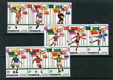 PENRHYN 1981 Sc#181-183 SOCCER WORLD CUP SPAIN 3 STRIPS OF 3 STAMPS MNH