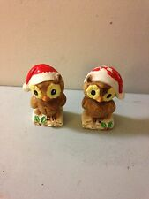 Josef Originals salt and Pepper shakers Christmas owls