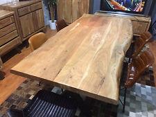 Esstisch Tisch 200 x100cm mit Baumkante 5,6cm massive Platte Akazie NEU